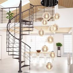 Find More Chandeliers Information about New Modern Brief E27 220/110V long Stair Led  Round Glass Ball Chandeliers 10 Head pendant lamps home decorative Light Fixture,High Quality ball skirt,China ball light fixture Suppliers, Cheap ball light from Zhongshan East Shine Lighting on Aliexpress.com