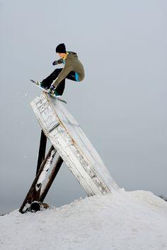 Wallride  #snowboard #snowboarding