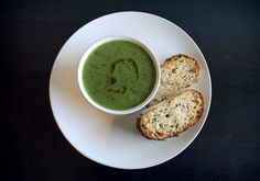 Pea and rocket soup   Vegie Project