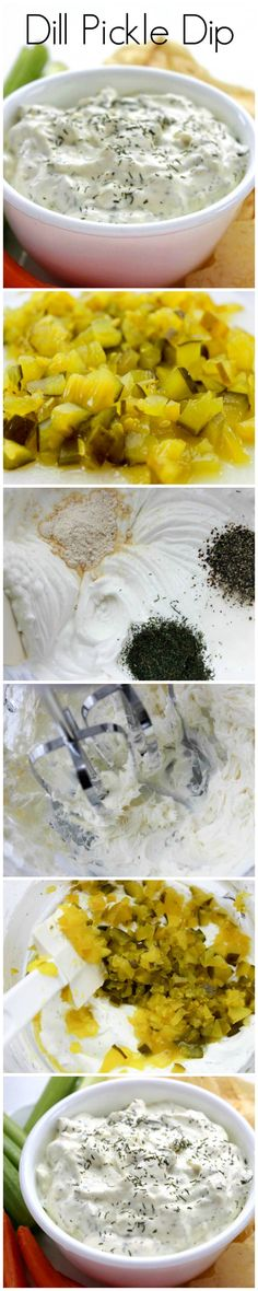 to make Dipp Pickle Dip. Easy recipe for Dill Pickle Dip Appetizer Dips, Appetizer Recipes, Snack Recipes, Cooking Recipes, Snacks, Easy Recipes, Dip Recipes, Cooking Tips, Recipies
