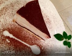 """Торт """"Птичье молоко"""" (диетический). Ингредиенты: яичные белки, молоко сухое обезжиренное, какао-порошок"""