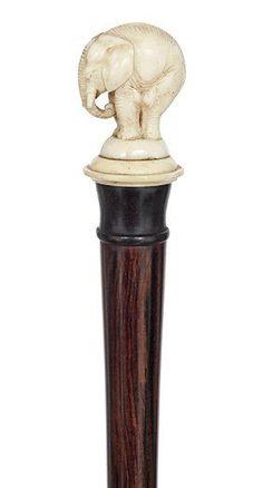 Ivory Elephant Walking Stick , ca. 1900