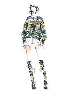 #RMSPRING sketch. Tune-into our runway livestream today at 3PM ET to see the final looks on rebeccaminkoff.com