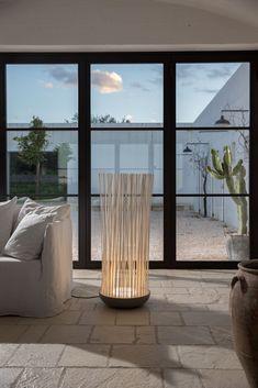 Don't Touch - Lamp in matt grey techno-polymer, stick in matt white PVC Indoor/Outdoor #lightingdesign #homelightingideas #lamps
