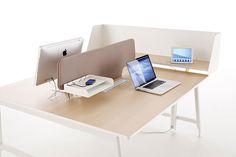Nouvelle Vague office system by Emmanuel Gallina for Clen System Furniture, Metal Furniture, Interior Office, Office Interiors, Co Working, Offices, Office Desk, Boudoir, Decoration