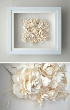 Flower paper tableau
