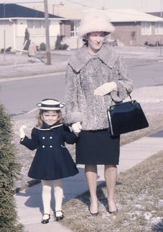 Little Mary Jane is adorable. Easter in the 60's