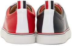 Thom Browne Tricolor Leather Low-Top Sneakers