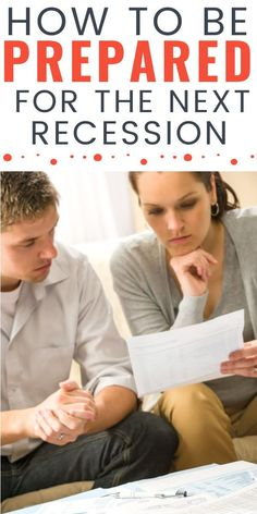 It would be great if the economy would continue to grow year after year, but it's a fact of life that the economy has cycles and will eventually head into a recession. Check out these 5 tips for how to be prepared for the next recession for ideas on how to get your family finances ready to face anything that comes your way. #recession #financialplanning Living On A Budget, Finance Organization, Create A Budget, Budgeting Finances, Debt Payoff, The Next, Financial Planning, Ways To Save Money, Higher Education
