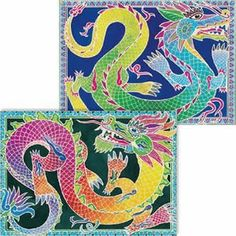 Dragons Artistic Watercolor Art Kit with 2 magic canvases by SentoSphere. $20.99. Unique process creates 2 intricate, detailed works of art even the youngest of children can achieve.