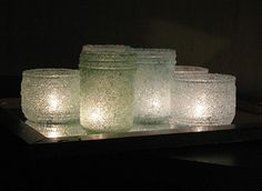 Flashy salt votives by Amanda