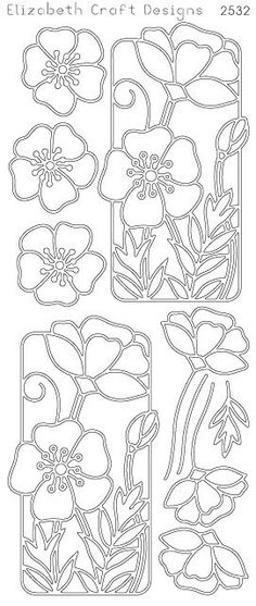Elizabeth Craft Designs PeelOff Sticker 2532B Flower by PNWCrafts, $2.10