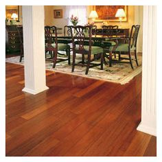 Brazilian Cherry Natural hardwood flooring from Harris Woods' Passport Exotics Collection is a unique and premium hardwood flooring