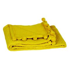 Honeycomb Throw Yellow now featured on Fab.