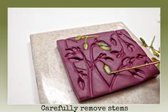 Beadazzle Me Polymer Jewelry: Polymer Clay Free Tutorial: Making a mold using Weeds, Flowers, & Pods