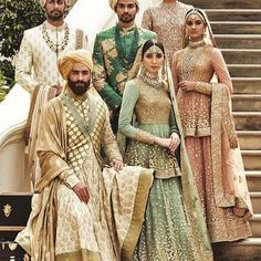 By designer Sabyasachi Mukherjee. Shop for your wedding trousseau, with a personal shopper & stylist in India - Bridelan, visit our website www.bridelan.com #Bridelan #weddinglehenga #sabyasachi #sabyasachiweddinglehenga Indian Bridal Wear, Pakistani Bridal, Indian Wear, Sherwani, Indian Dresses, Indian Outfits, Indian Clothes, Sabyasachi Collection, Designer Bridal Lehenga