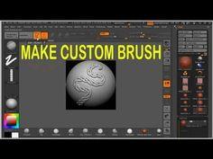 How to make custom brush in ZBrush