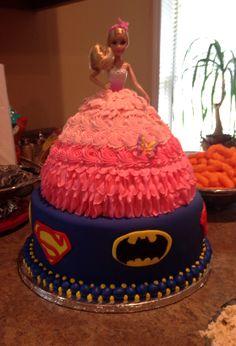 Princess Superhero Cake