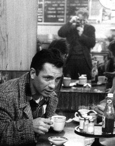 Enthalpic Blip - jazzcatjack:   Jack Kerouac drinking coffee