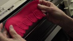Diana natters on. about machine knitting: New: April's Video is Scalloped Ribbing Knitting Help, Knitting Videos, Hand Knitting, Knitting Tutorials, Knitting Machine Patterns, Knitting Stitches, Brother Knitting Machine, Knifty Knitter, Bead Crochet Rope