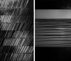 """Pierre Soulages. (left) """"Peinture, 296 x 165 cm, 4 janvier 2014″ 2014, Acrylic on canvas, 116 1/2 x 65 inches / 296 x 165 cm. (right)…"""