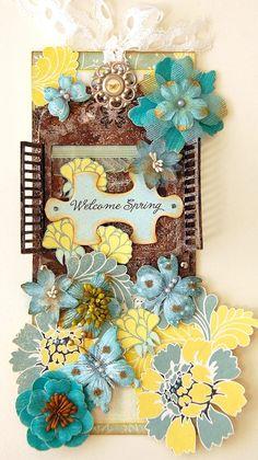 Welcome Spring Tag - Scrapbook.com