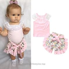 2 PCS/Set Toraway Infant Newborn Baby Girls Summer Lace T-shirt Short+ Floral Shorts Clothes Outfits Set (12-18 Month, Pink) Check It Out Now     $5.39     Size Details     Size:0-6 Month  Label Size:70———Bust:48cm/18.9″———Tops Length:32cm/12.6″———Pants Length:20cm/7.9″  ..  http://www.healthyilifestyles.top/2017/03/18/2-pcsset-toraway-infant-newborn-baby-girls-summer-lace-t-shirt-short-floral-shorts-clothes-outfits-set-12-18-month-pink/
