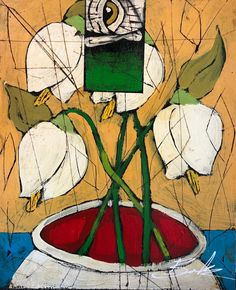 Floral Abstraction by Michael Banks Michael Banks, Atlanta Art, Outsider Art, Black Art, Contemporary Artists, Art Museum, Framed Art, Folk Art, Art Gallery