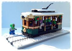 Lego Christmas Train, Lego Christmas Village, Lego Winter Village, Lego Van, Light Brick, Lego Boards, Lego Pictures, Lego Trains, Winter Light
