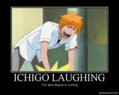 Ichigo laughing. ..hahaha