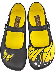 Hot Chocolate Design Chocolaticas Butterfly Women's Mary Jane Flat Multicoloured US Size: 8 ❤ ...