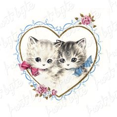 25 Darling Vintage Valentine Kitty Cat Cards - Deba Do Tell Cute Valentines Card, Valentine Images, Vintage Valentine Cards, Cat Valentine, Vintage Greeting Cards, My Funny Valentine, Vintage Postcards, Vintage Love, Vintage Images