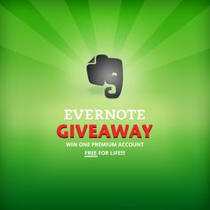 Evernote (lifetime subscription) giveaway!