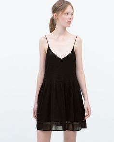 Image 2 of LACE DETAIL DRESS from Zara