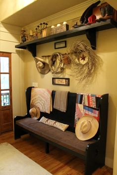 cowboy chic-love the bench and shelf-maybe a little too country though
