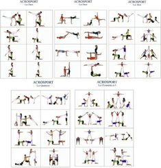 moves for duos, trios, 2 pairs and ACROSPORT planches… Elementary Physical Education, Health And Physical Education, Chico Yoga, Yoga Games, Pe Games, Pe Activities, Family Yoga, Pe Ideas, Acrobatic Gymnastics