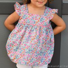Modèle de blouse 648B en taille 104 du Burda Hors série enfants n°37H