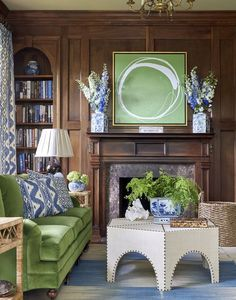 Elements of Style Blog | Color Crush: French Blue and Mossy Green | http://www.elementsofstyleblog.com