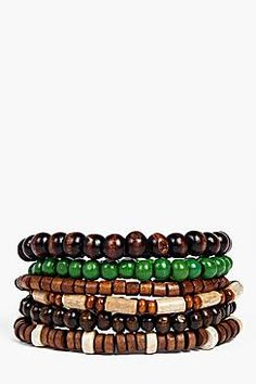 Wooden Beaded Bracelet Multipack
