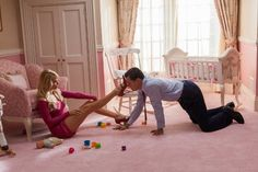 Still of Leonardo DiCaprio and Margot Robbie in The Wolf of Wall Street (2013)