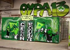 GATE13 Panathinaikos Sports Clubs, Wall Murals, Graffiti, Places To Go, Football, Candy, Gate, Wallpaper Murals, Soccer