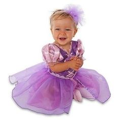 Disney Store Tangled Princess Rapunzel Halloween Costume Dress with Headband for Infants and Toddlers – Size 6-12 Months