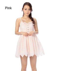 LIZ LISA Embroidered Hem Dress w/ Official LIZ LISA Shop Bag 3