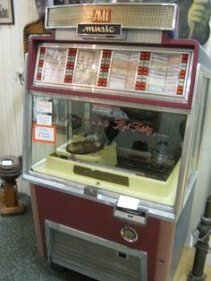 juke box--- I ALWAYS WANTED ONE.  MY FRIEND DIANE HAD ONE AND I USED TO PLAN HOW I WOULD KILL HER AND TAKE IT.