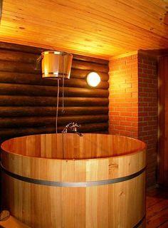 Купель для бани из алтайского кедра