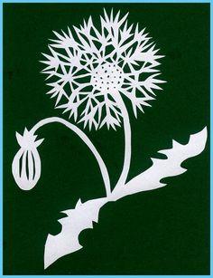 Hand-cut Card - Dandelion