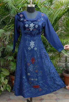 Holy clothing embroidered dress