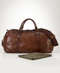 Polo Ralph Lauren Bag, Core Leather Gym Bag - Shop All Polo Ralph Lauren - Men - Macys