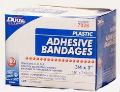 3/4'' x 3'' Plastic Bandages