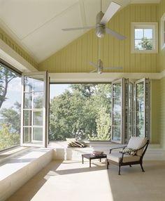 I love these windows!  Midwestern Lake House - Rehkamp Larson Architects